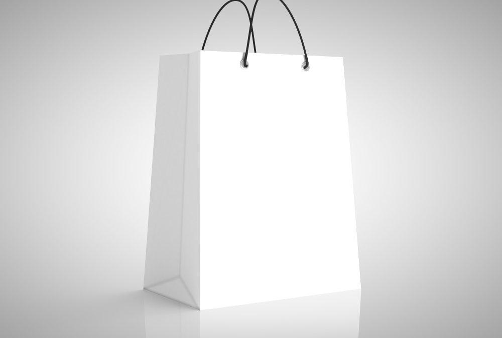 Hvid gavepose